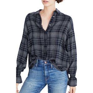 🍂 MADEWELL Westward Bell Sleeve Plaid Shirt XS